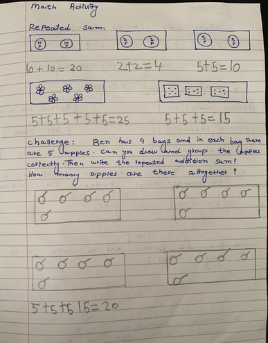 Maths-repeated addition by Eshaal, Bulu
