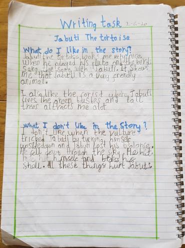 Writing- Story opinion by Noor-E-Fatima, Bulu