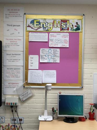 Our English learning wall.