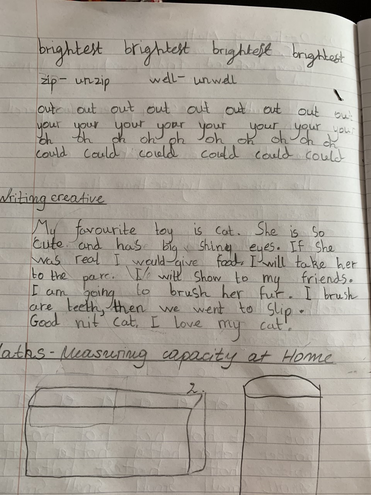 Creative writing and Maths by Ivayla, Blue class
