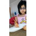 Rithvi is writing