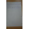 Ernest's 'Dustin' writing part 2