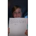 Hannah's spooky writing