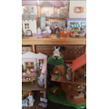 Hiding with Phoebe's Sylvanian Families. Can you spot us?