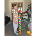 Tallest lego tower?
