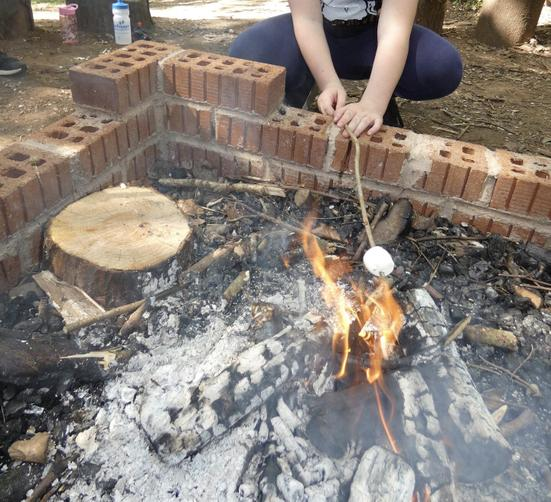 Toasting marshmallows