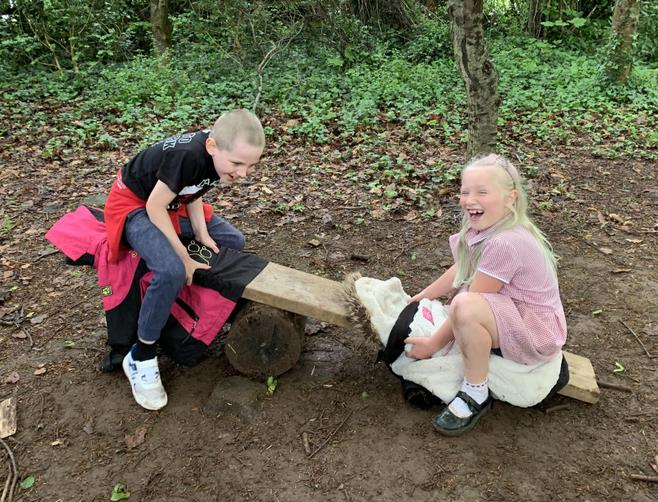 Making a see-saw (Forest School style!)