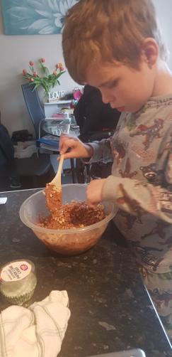 Making crispy cake