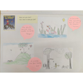 We drew the meadow from 'Peter and the Wolf'