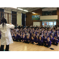 An explosive Science Week assembly by CCC staff