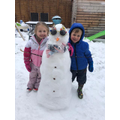 Elsa and her brother's Snowman fun