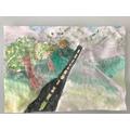 Sophie's landscape painting