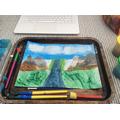 Oscar's landscape painting
