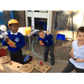 We worked together to build Mr Gumpy's boat!