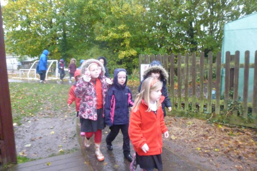 Heading to the woodland.