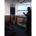 Meeting H.M. Coastguard