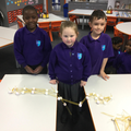 Very proud that their bridge was a success!