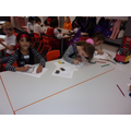 We designed our own pirate flags.