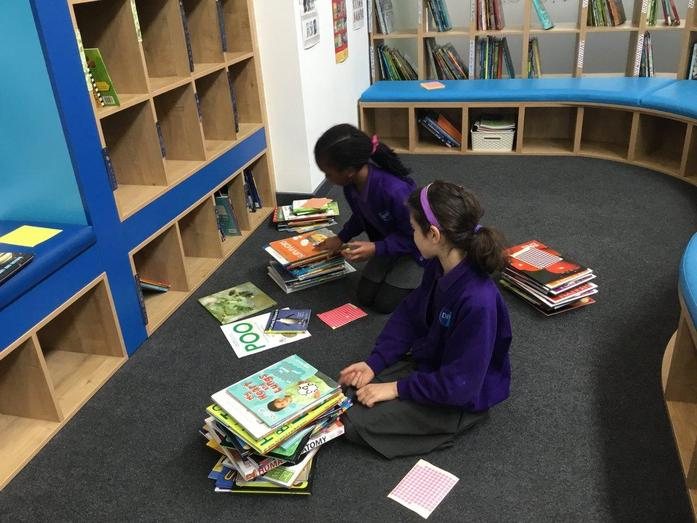 Stocking and sorting the books