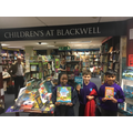 Winners of book quiz at Blackwell's Bookshop