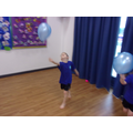 We also studied the way that balloons move.