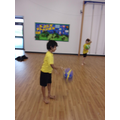 We controlled how the ball bounced by dribbling.