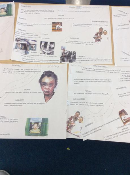In Year 5 we have been looking at the book 'Coming to England' by Floella Benjamin.