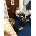 Reading 'Whatever Next' to our friends.