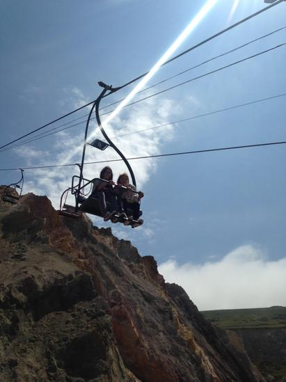 Chairlift at Allum Bay