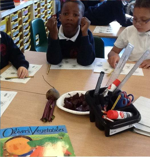 Tasting beetroot - looks delicious!