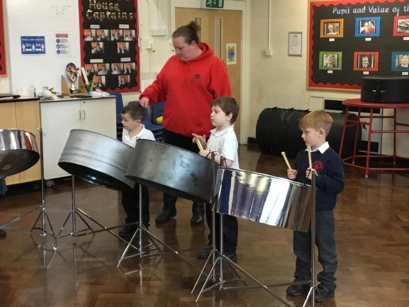 F2 embraced the Caribbean culture and got to play the steel drums