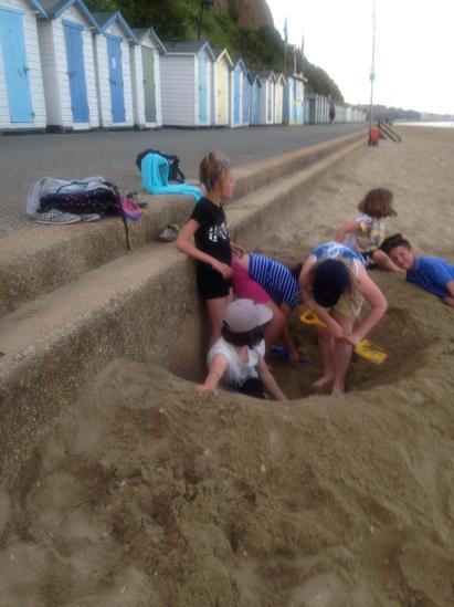 Last hole we dug