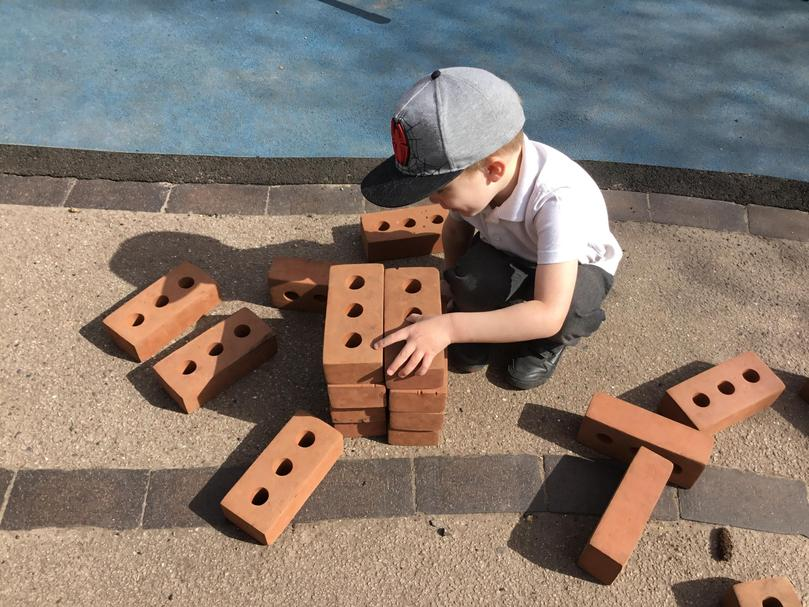 Building with the bricks outside