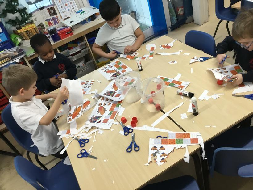 Making paper dragons