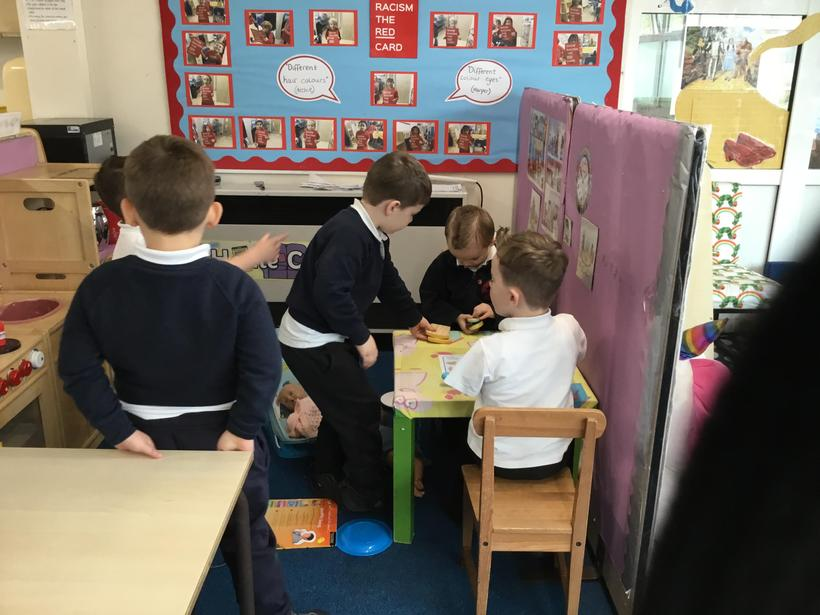 Role-play in the home corner