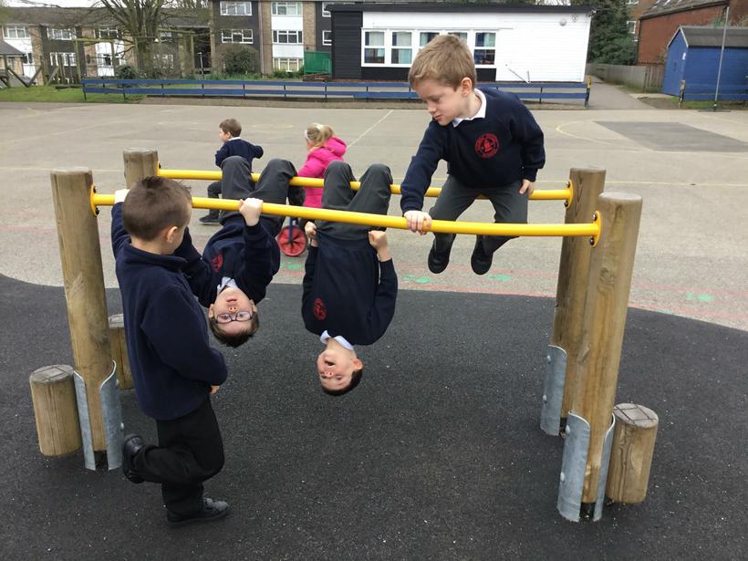 We practised swinging