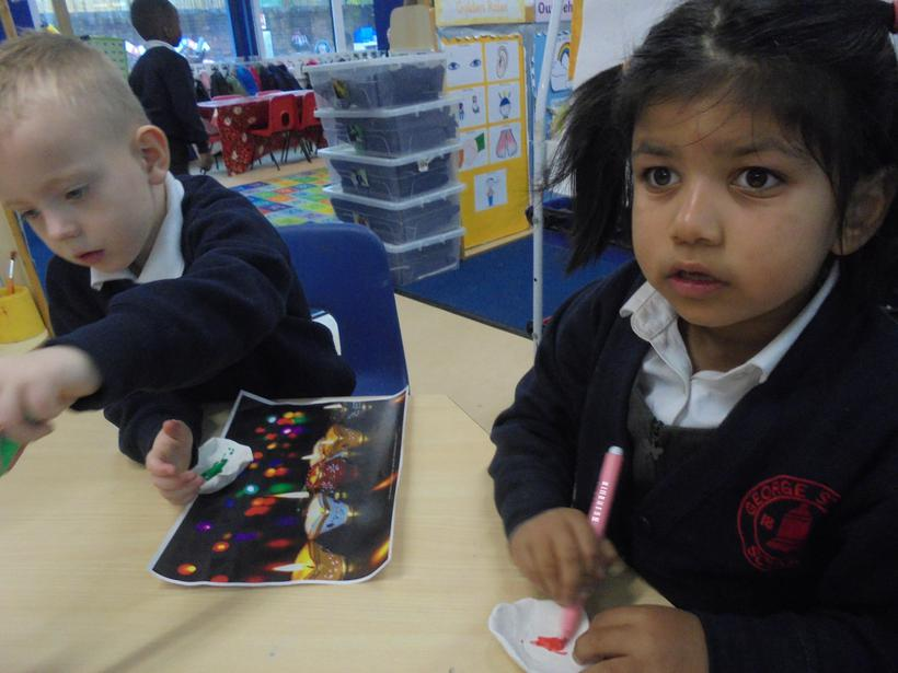 We used felt tips to decorate them.