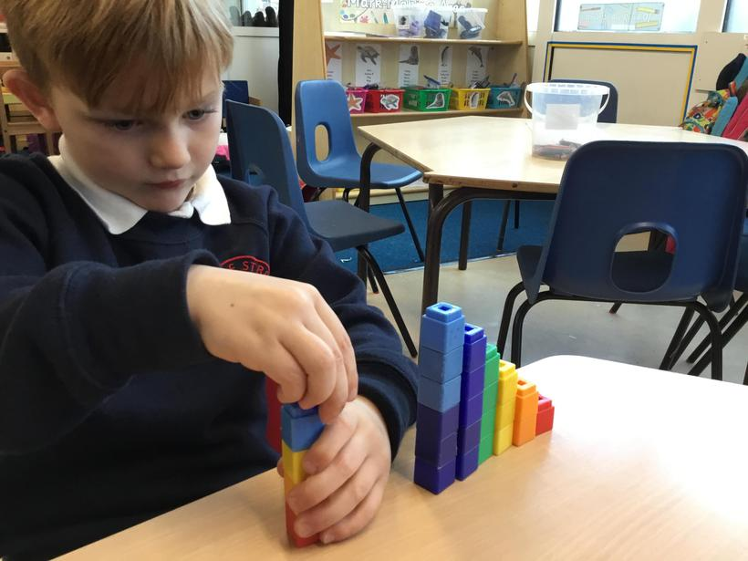 Counting blocks and making towers