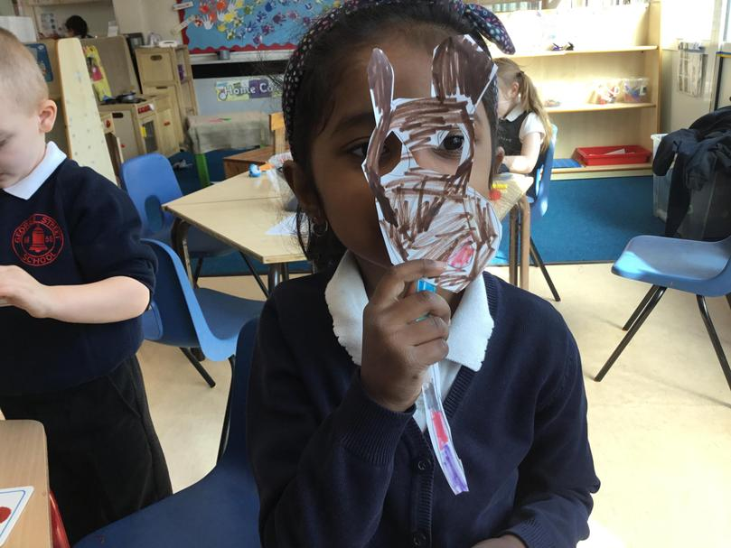 We even made our own animal masks to help retell the story!