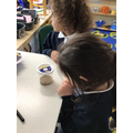 We have been observing and watching the caterpillars grow.