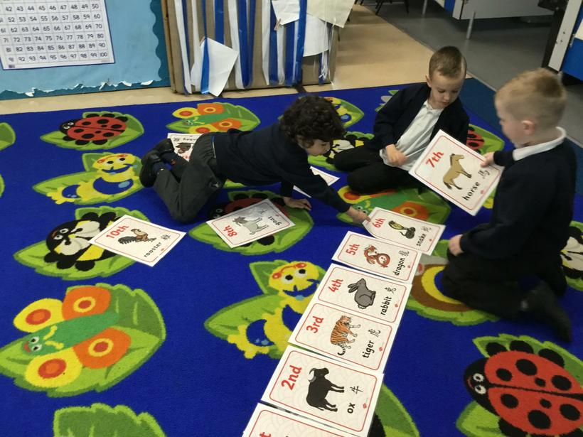 Ordering the animals from 1st to 12th