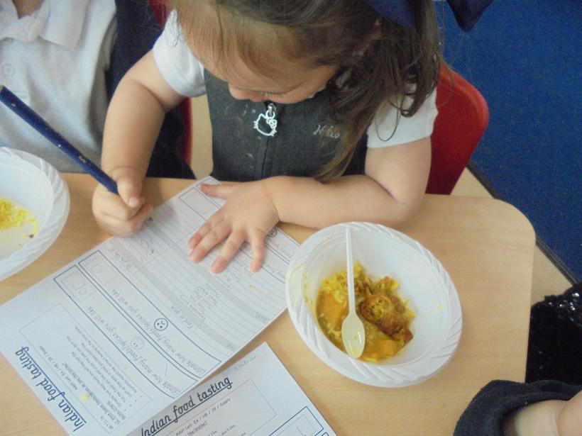 We tasted some different foods and spices.