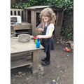 We created our own potions using flowers, herbs and water.