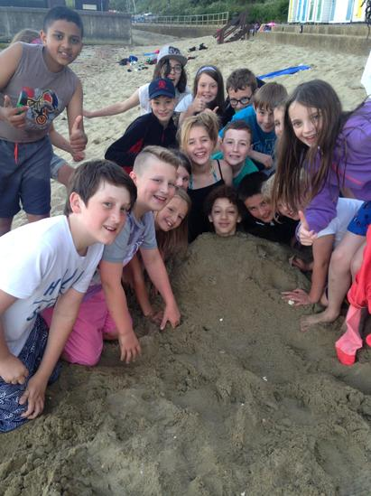 The burying begins!