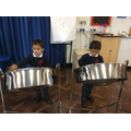 Having the opportunity to play the Steel Band Drums.