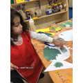 We have been using bubble wrap to paint the fish scales.