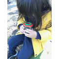 Investigating the mini beasts using the magnifying pots.