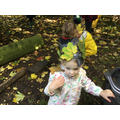 Using natural resources found in the outside environment to create autumn crowns.