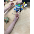 Using playdough and pipe cleaners to create our very own aliens!