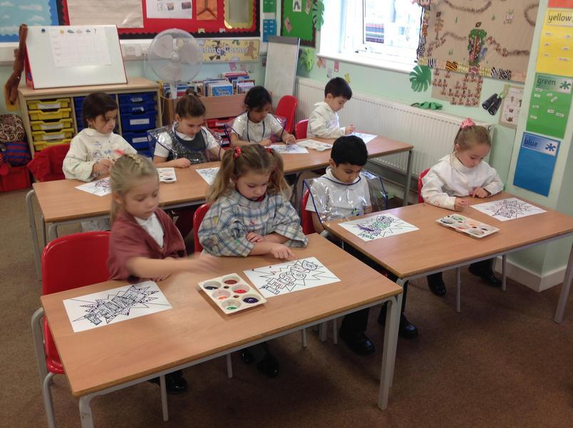 Exploring paints in Class 6.